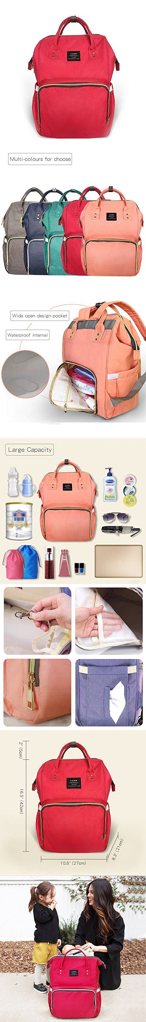 39c12ba9a098 Ticent Diaper Bag Multi-Function Waterproof Travel Backpack Nappy ...