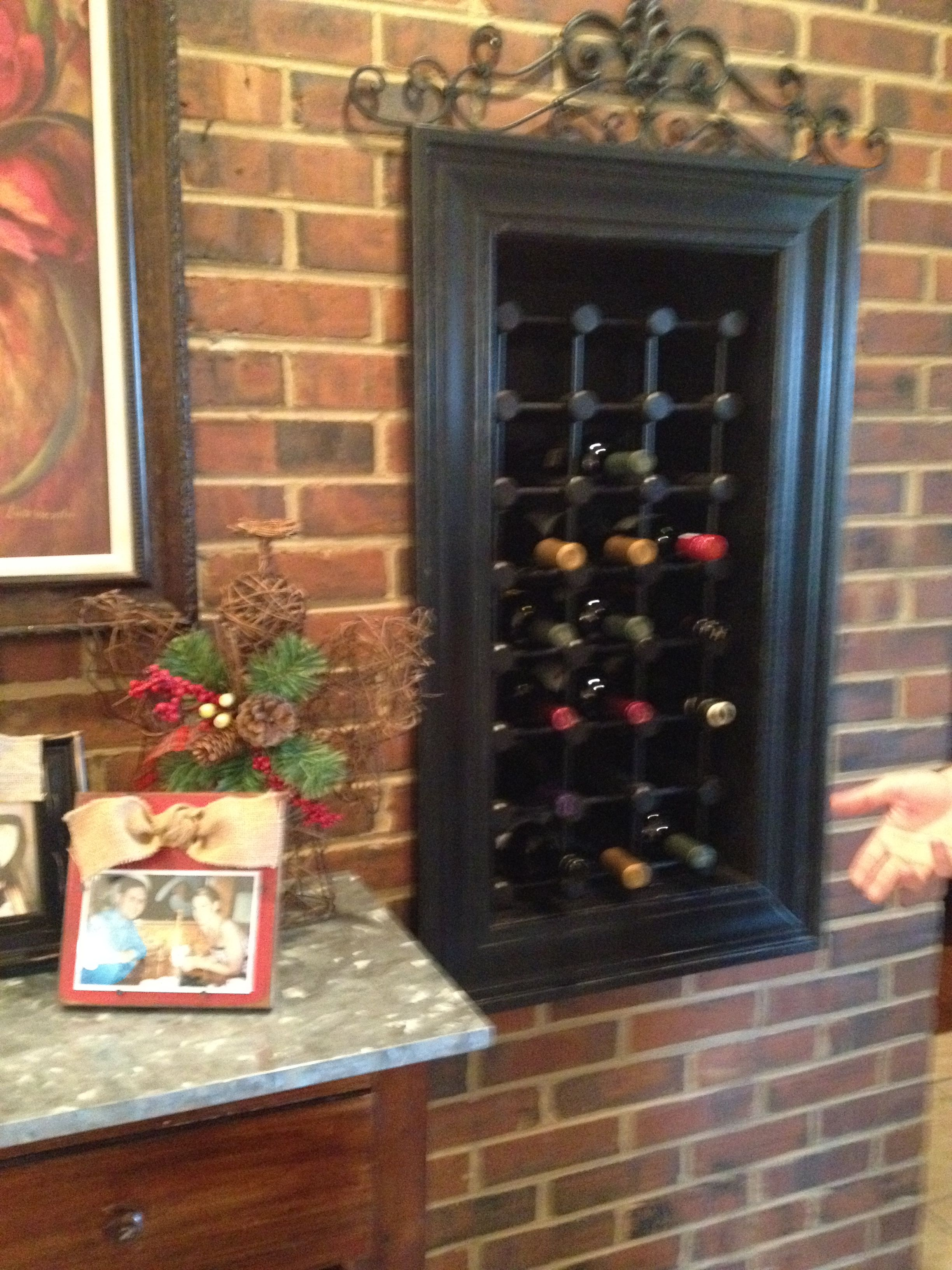Built In Framed Wine Cabinet Wine Cabinets Decor Home