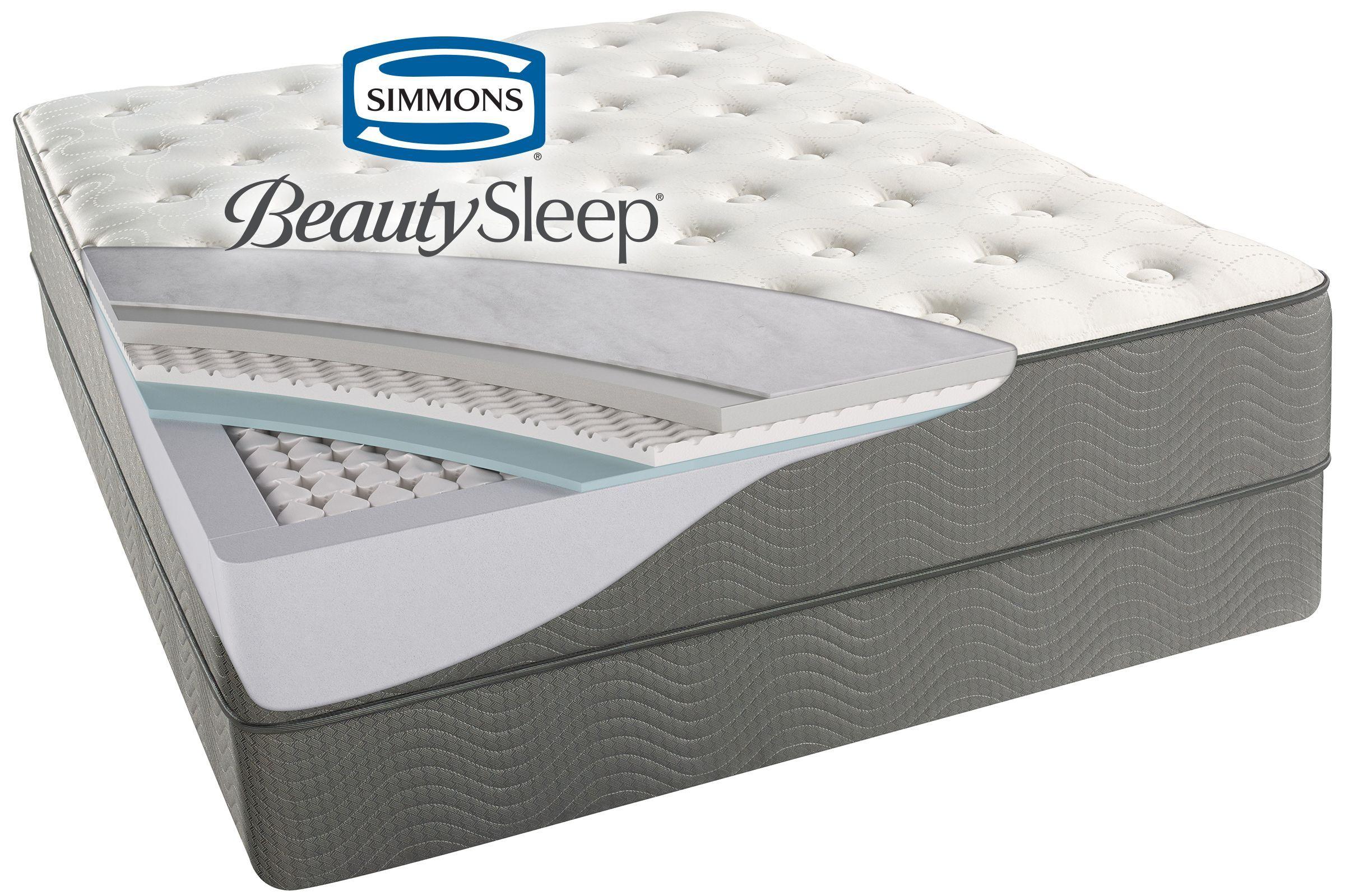 Simmons Beautysleep Beaver Creek Plush Queen Mattress Mattress Adjustable Base Queen Mattress
