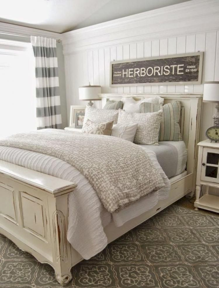 Comfy Farmhouse Master Bedroom Decor Ideas   Farmhouse ...