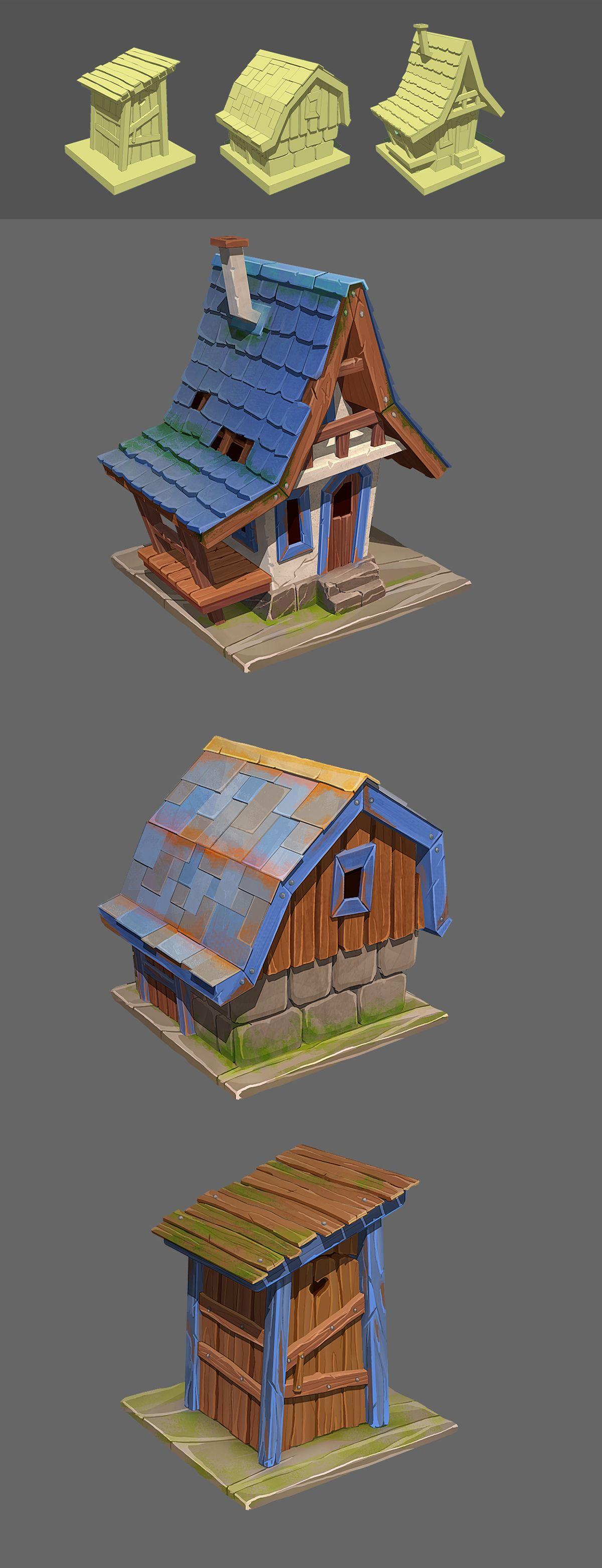 Game itesm. House, barn, toilet