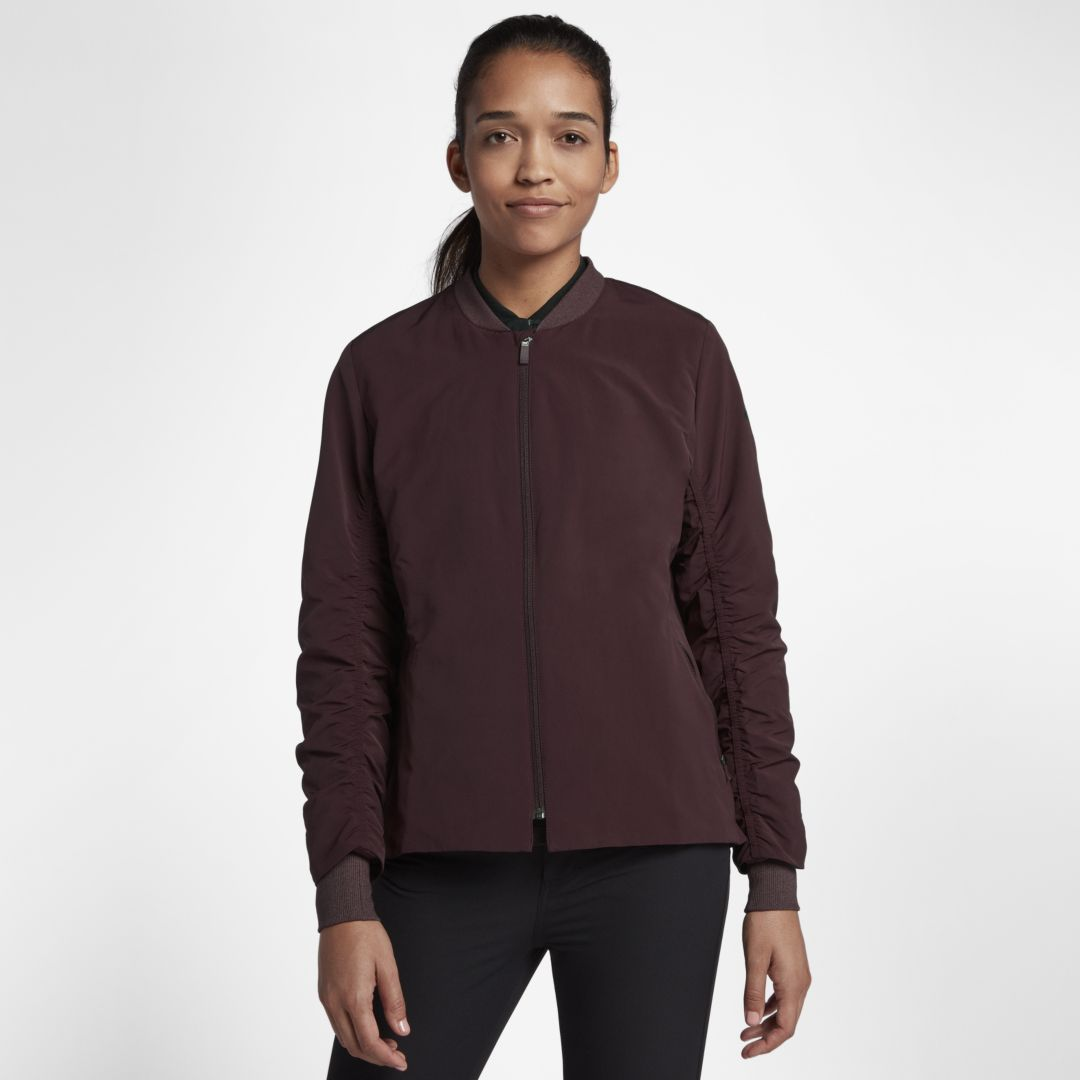 1f1603deaab41 Nike Shield Women s Golf Bomber Jacket Size M (Burgundy Crush ...