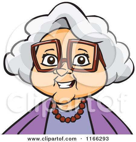 cartoon of a granny woman avatar royalty free vector clipart by