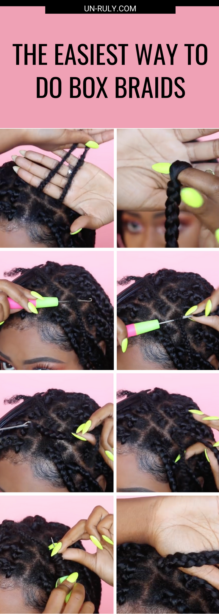 No Cornrow Crochets: Do Your Box Braids This Way | Un-ruly