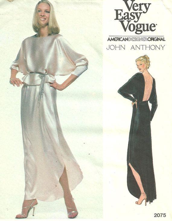 Vintage Vogue Designer nähen Muster 2075 / von studioGpatterns ...