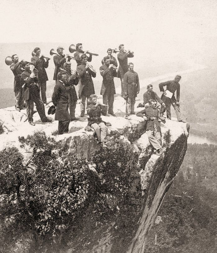 Old civil war pictures union army band on lookout mountain 1864 i old civil war pictures union army band on lookout mountain 1864 ive been there thecheapjerseys Choice Image