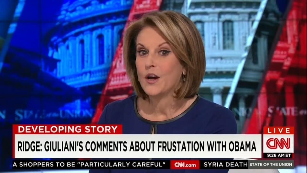 On Sunday S State Of The Union Cnn S Gloria Borger Hosted Three Prominent Republican Politicians To Discuss The Ongoing Debate Surrounding Ru Borger Obama Cnn