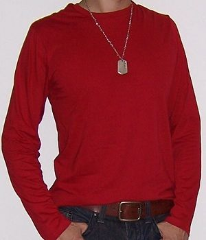 Long Sleeve Red T Shirt Mens