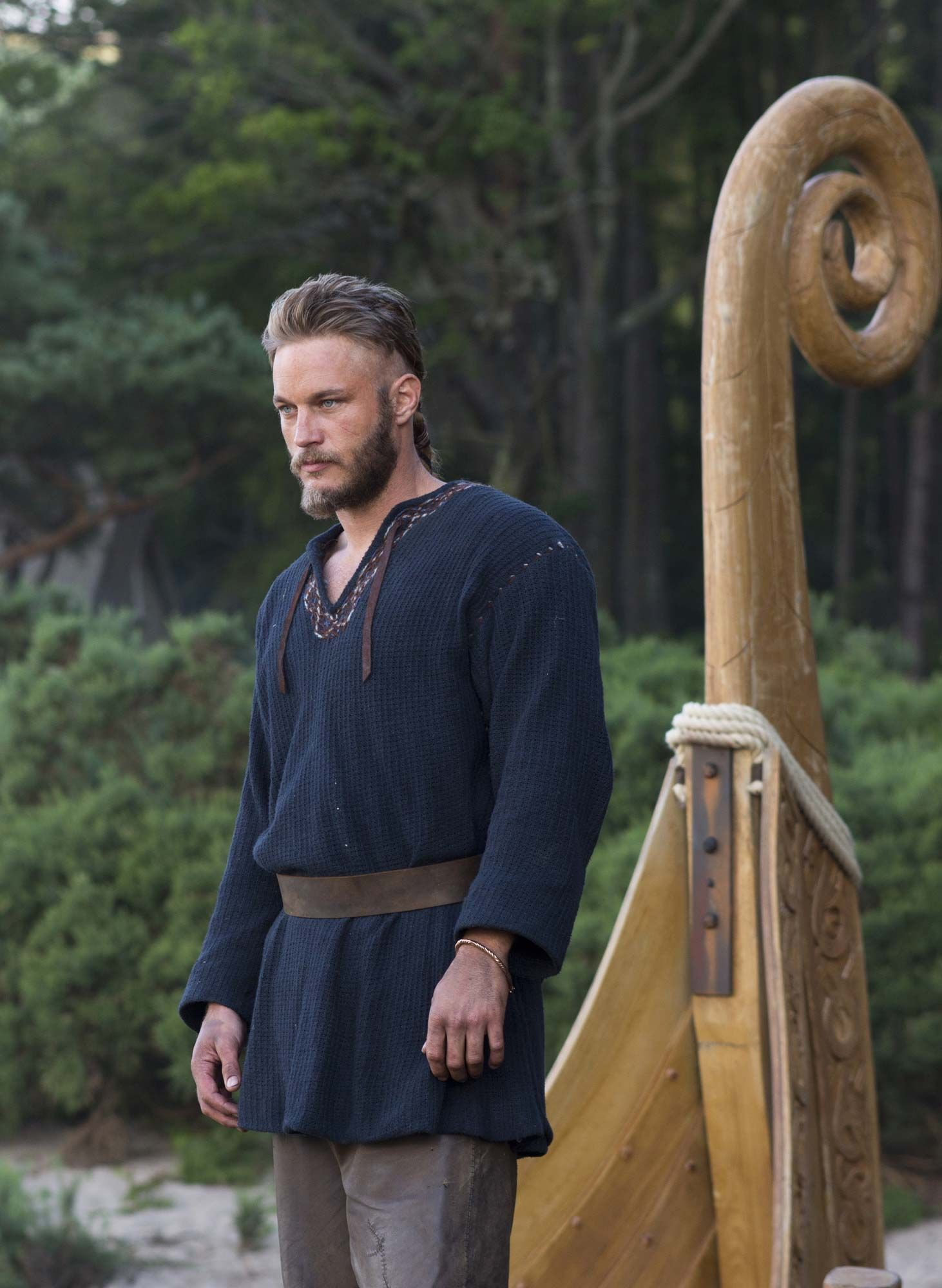Vikings (series 2013 - ) Starring: Travis Fimmel as Ragnar Lothbrok, a Viking farmer and warrior who yearns to raid the rumored riches of undiscovered England. (click thru for high res)
