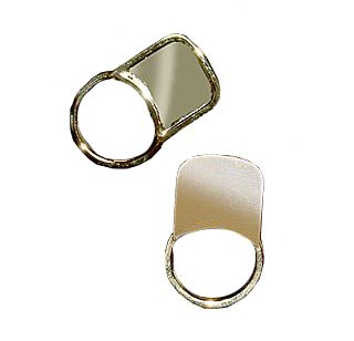 The #Gold #Keyring (Twist & Turn) features an elegant easy to use design and ample space for your #promotional message, #logo or #branding customised onto the promotional product.