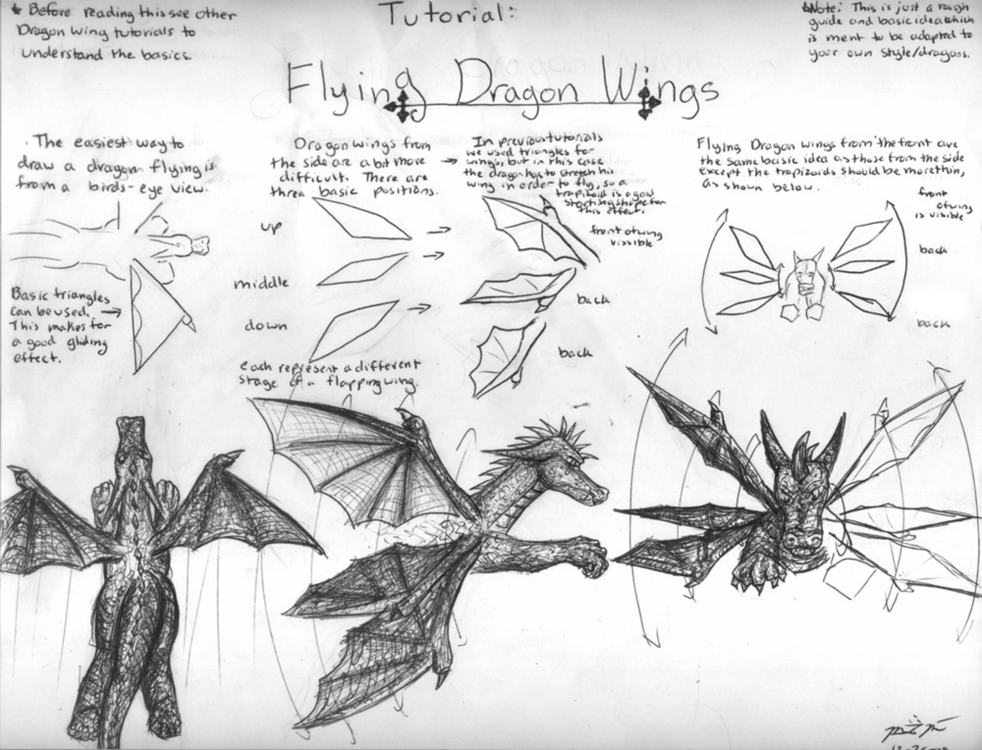 How to Draw Flying Dragon Wing by bladesfire on