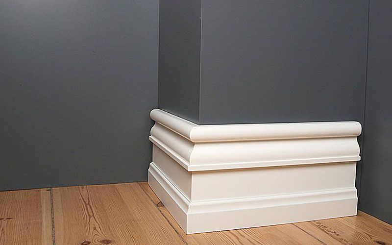 rodapi alto acabado lacado blanco rodapi pinterest