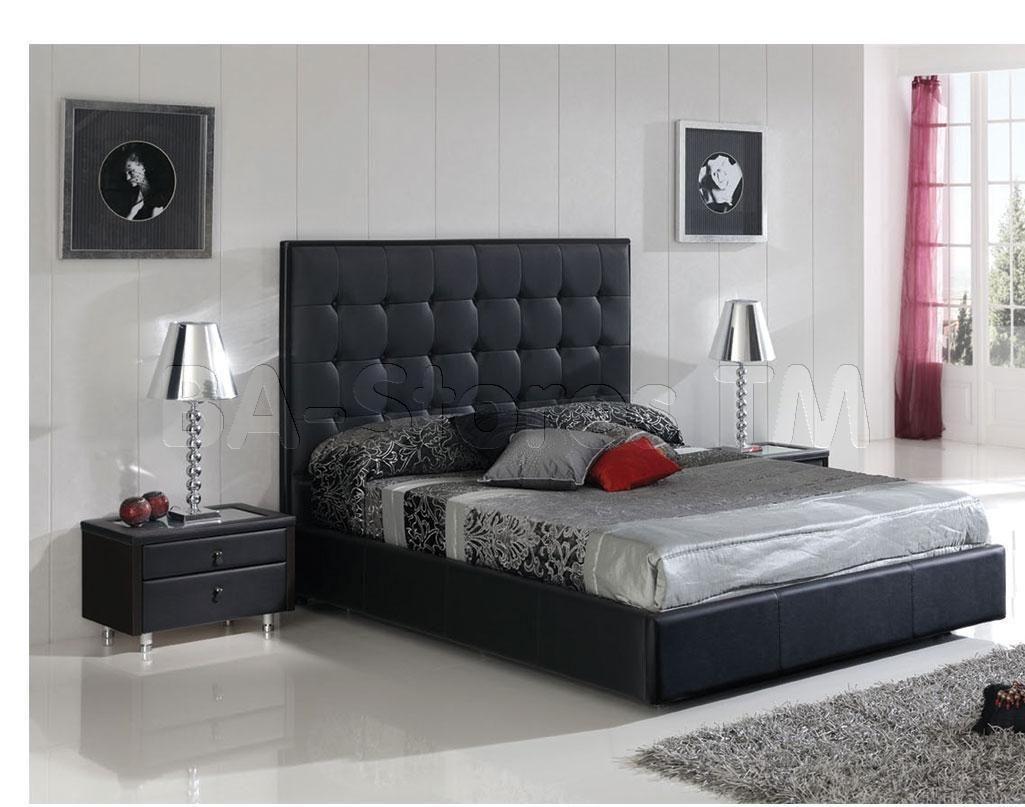 penelope black storage modern platform bed beds