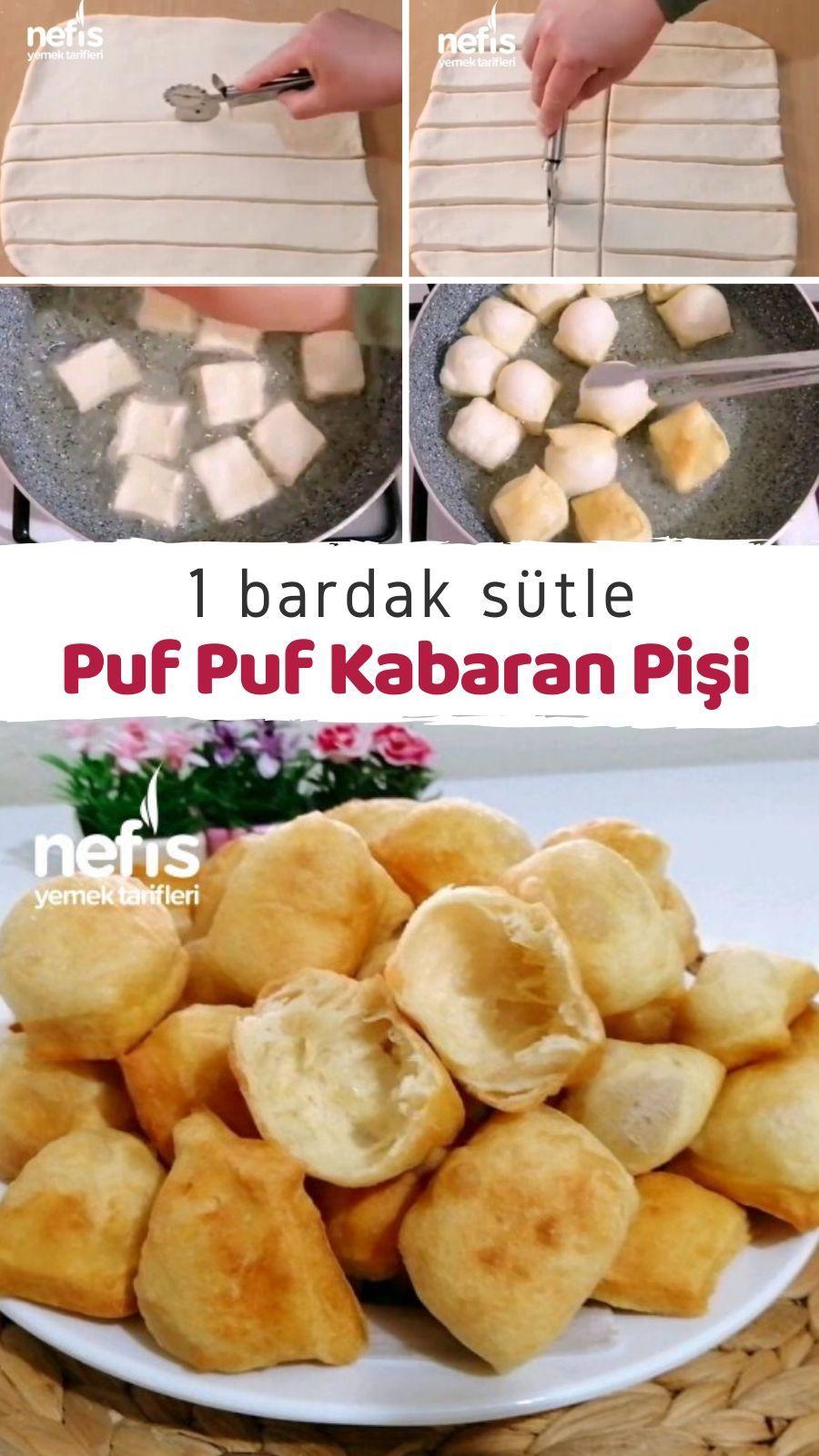 1 Bardak Sütle Puf Puf Kabaran Pişi Tarifi nasıl yapılır 4301 kişinin defterindeki bu tarifin resimli anlatımı ve deneyenlerin fotoğrafları burada