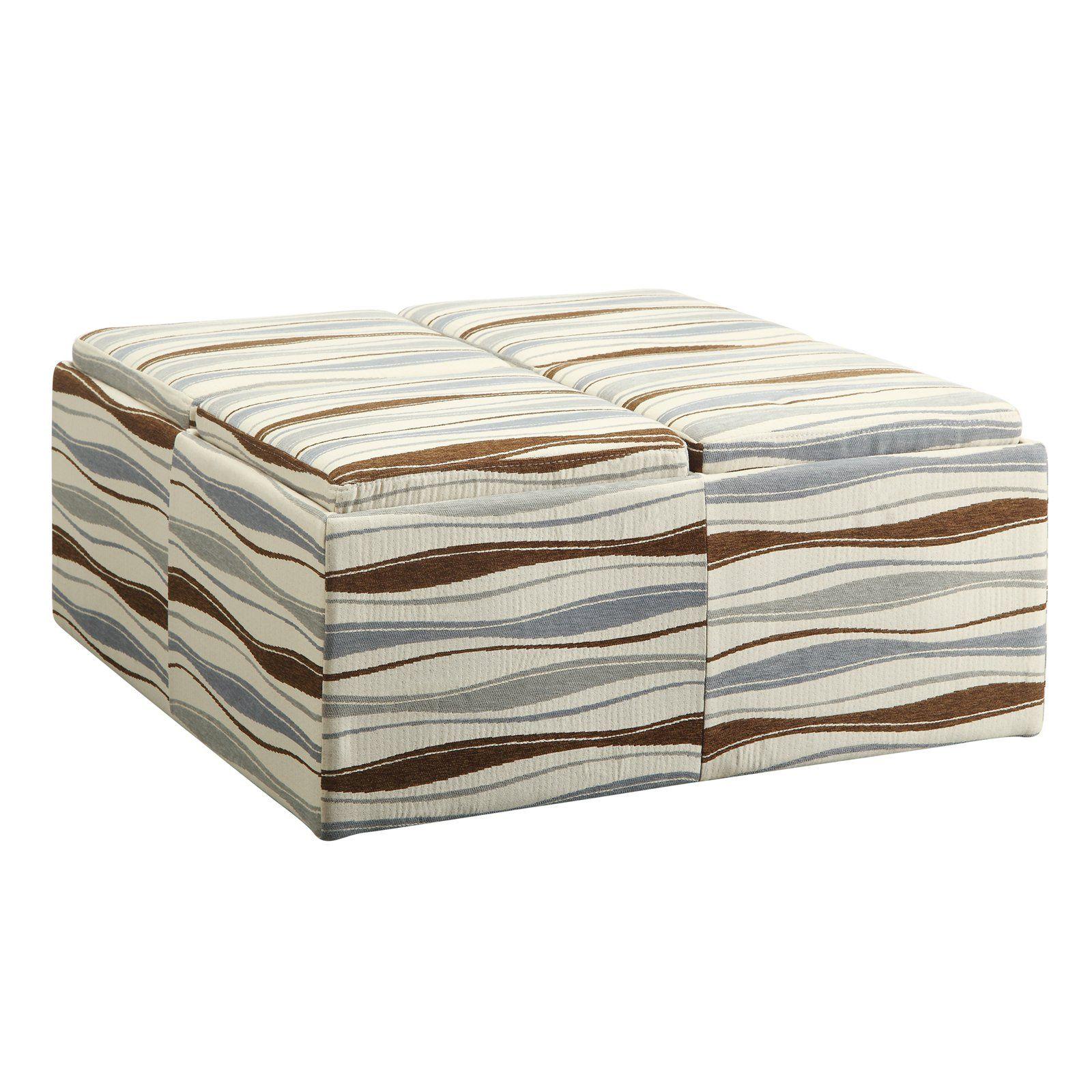 Inspire Q Wavy Striped Storage Ottoman   $302.4 @hayneedle