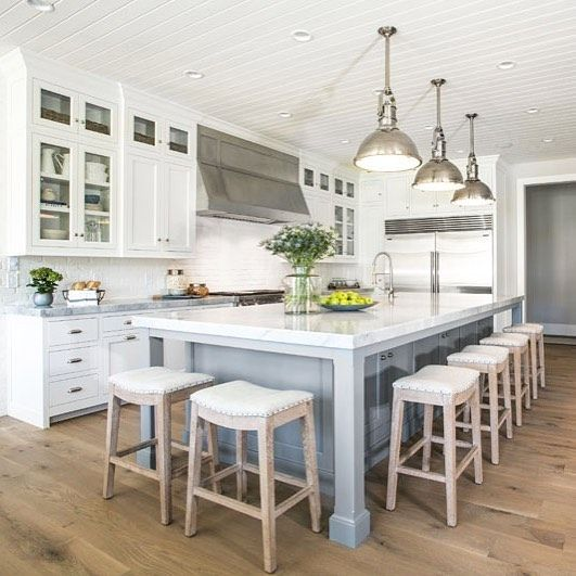 Just Got Some Of The Photos Back Of The #midwayfarmhouse And I'm Interesting Kitchen Island Chairs Decorating Design