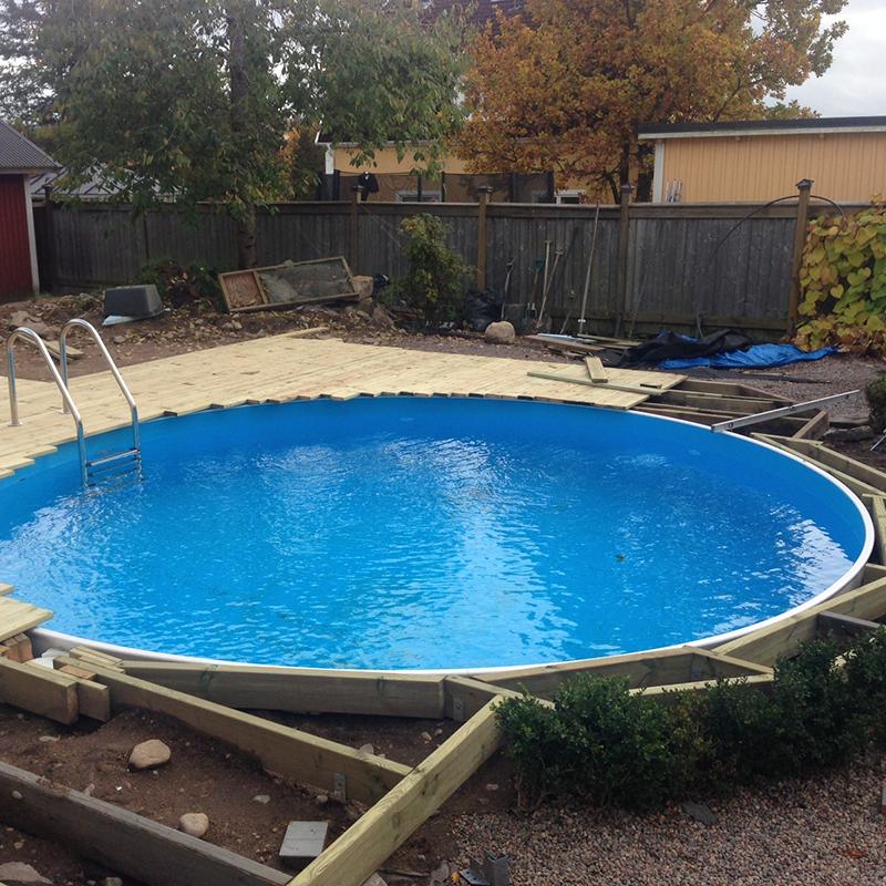 Bygga tralld ck rund pool pool pinterest for Pool stahlwand rund aufbauhinweise