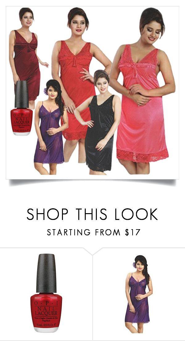 f349286822 Bridal Sexy Short Night Dress by lavanyas-trendzs on Polyvore featuring OPI  #sexy #hot #shortnightdress #women #fashion #fancy #sexwear #bridal  #firstnight ...