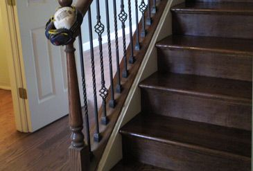 Best Stairs Made Of Red Oak With Dark Walnut Stain And A Nice Satin Finish With Images Interior 400 x 300