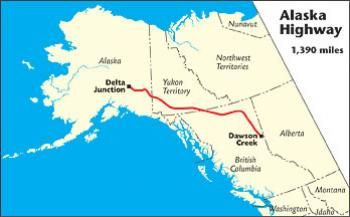 Map Of Alaska Canada Highway Alaska Highway   The MILEPOST   The MILEPOST: Since 1949, The