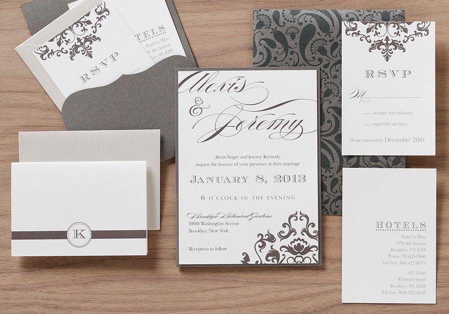 New And Blue S Wedding Invitation