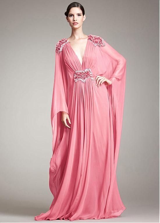 Find More Evening Dresses Information about Abendkleider 2017 Sexy V Neck Long Chiffon Evening Dress Pleated And Beading Long Sleeve Party Dress Pink Turkish Evening Gowns,High Quality dress chevron,China dresse Suppliers, Cheap dress montage from Loveperfect on Aliexpress.com