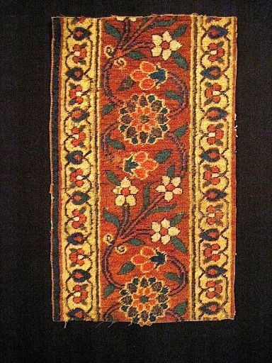 18th C East Persian (Herat) Carpet Fragment woven entirely with jufti knots