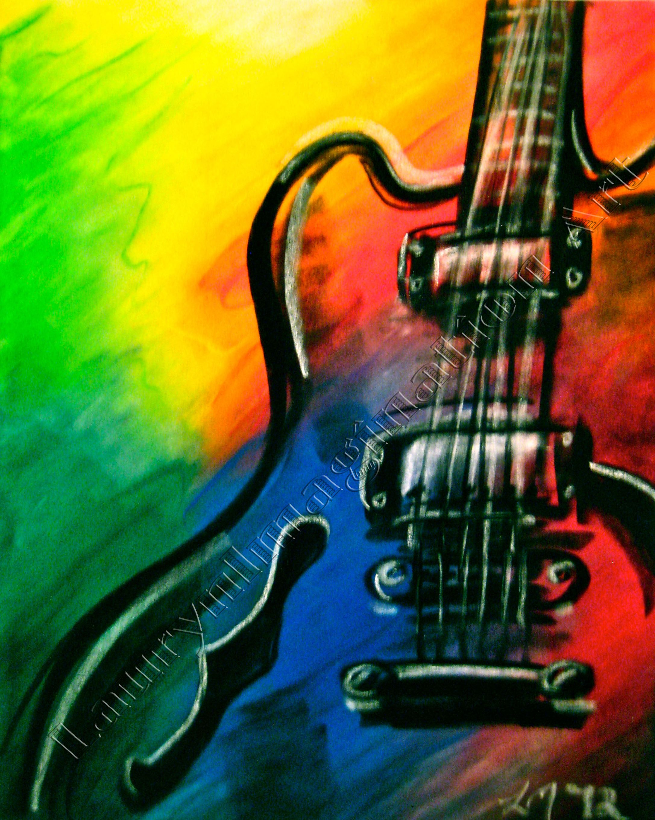Abstract Guitar By Laurynimagination