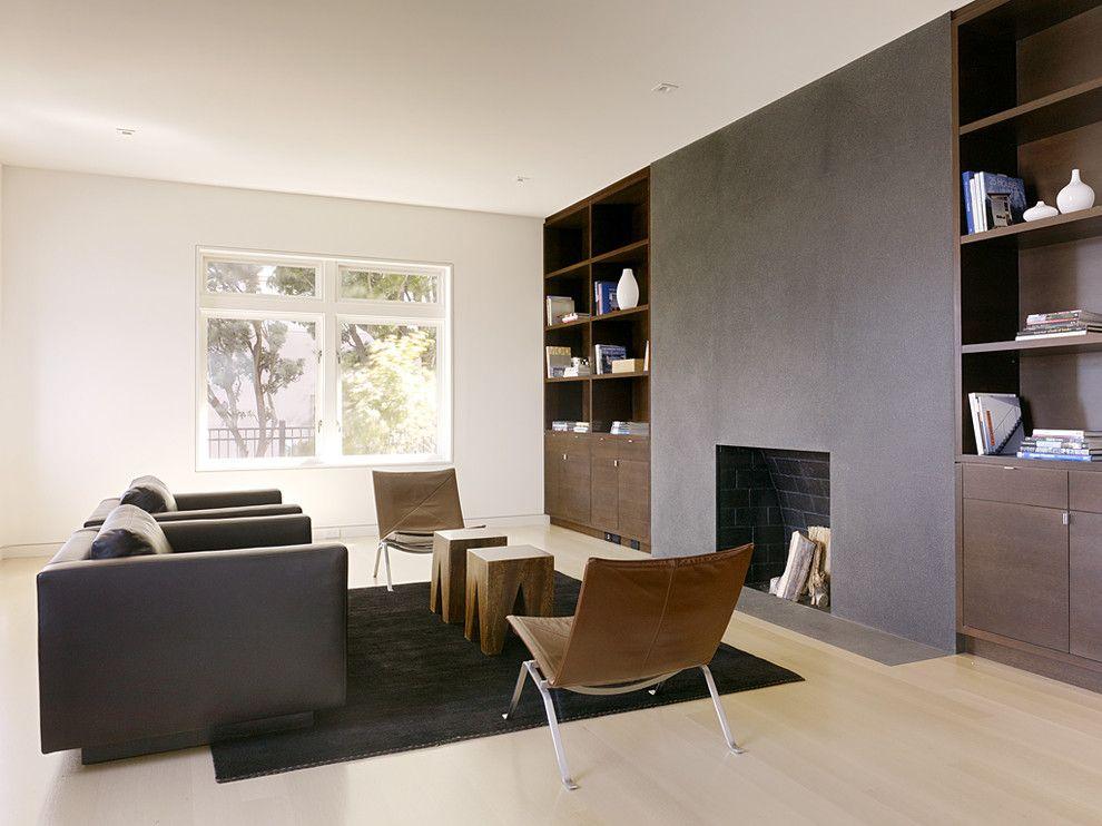 Modern Living Room Built Ins larkin street residence - modern - living room - san francisco