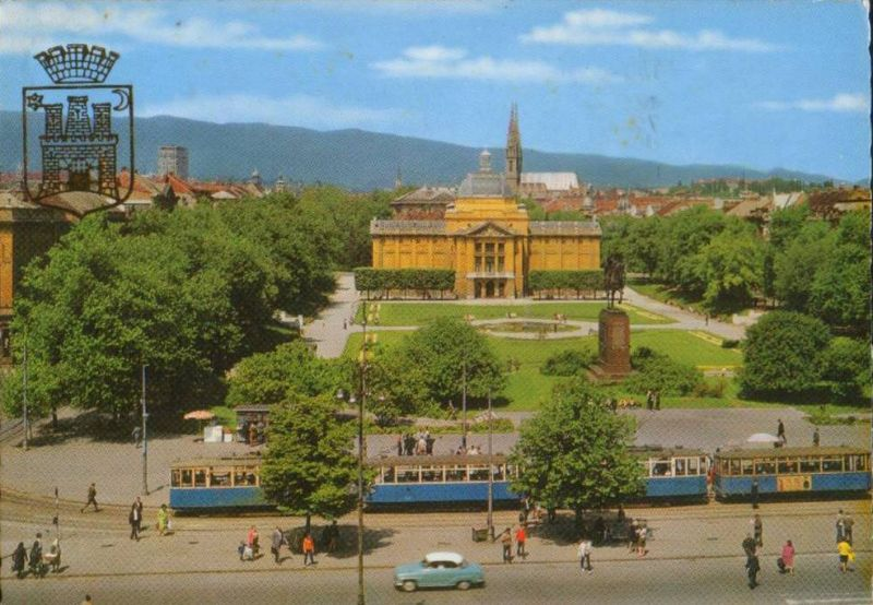 1990 G King Tomislav Square Zagreb Croatia Zagreb Mansions Taj Mahal