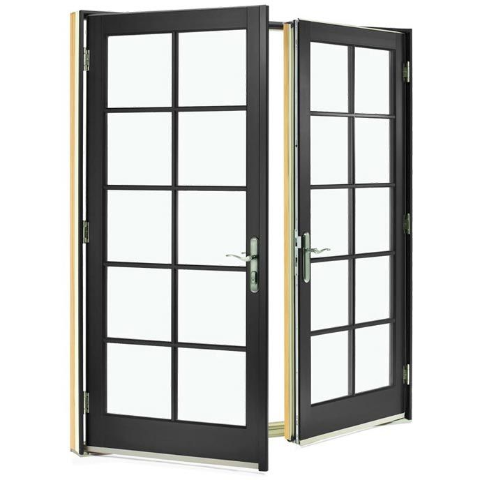 Integrityu0027s Out Swing French Doors feature a durable Ultrex fiberglass exterior and a rich wood interior  sc 1 st  Pinterest & Integrityu0027s Out Swing French Doors feature a durable Ultrex ... pezcame.com