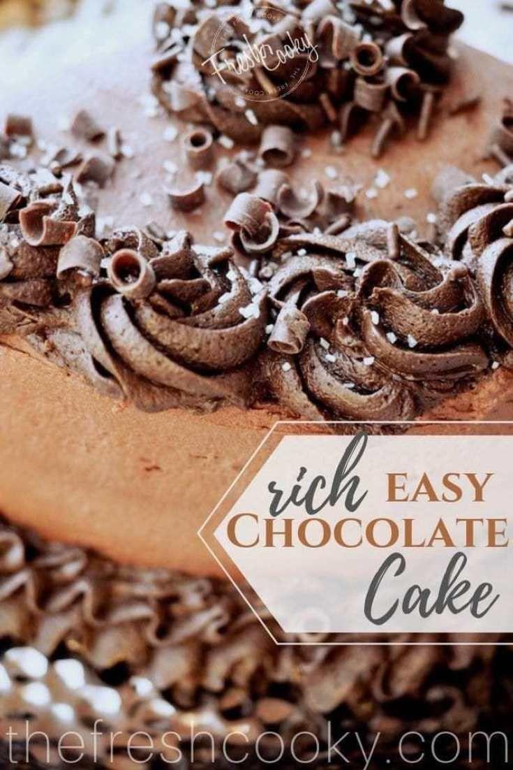 Easy Rich Chocolate Zucchini Cake OMGOSH Make this Chocolate Zucchini cake then youll know how easy rich fudgy amazing and moist it is Via thefreshcooky