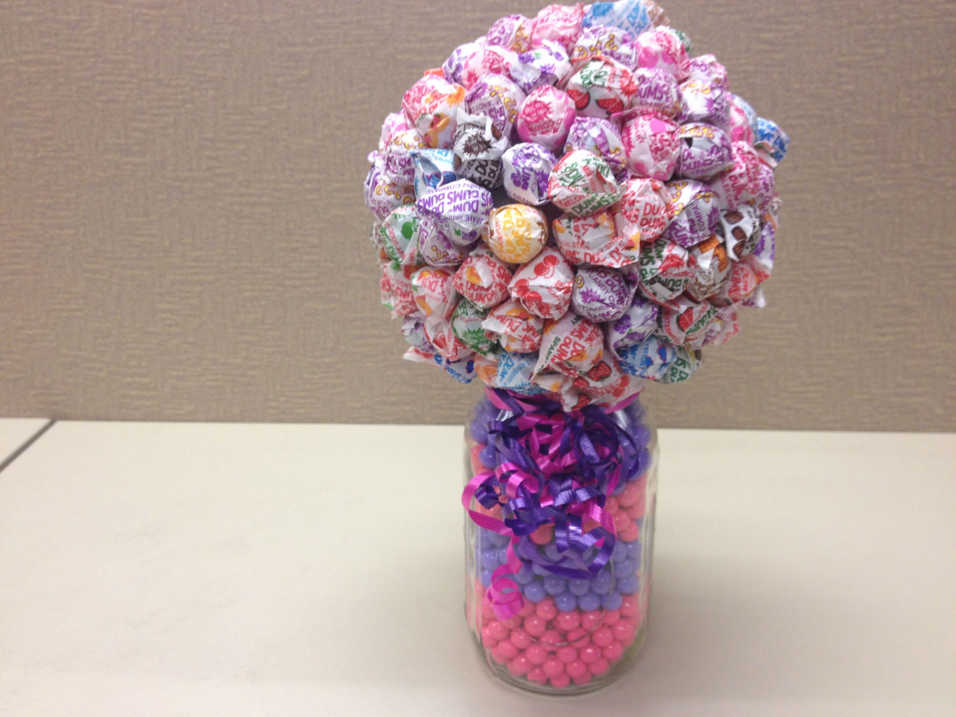 how to make a dum dum bouquet