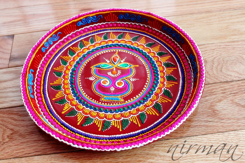 Diya decoration design picture ideas references diya decoration design diya pooja thalidecorative henna mehndi design by nirman on etsy junglespirit Choice Image