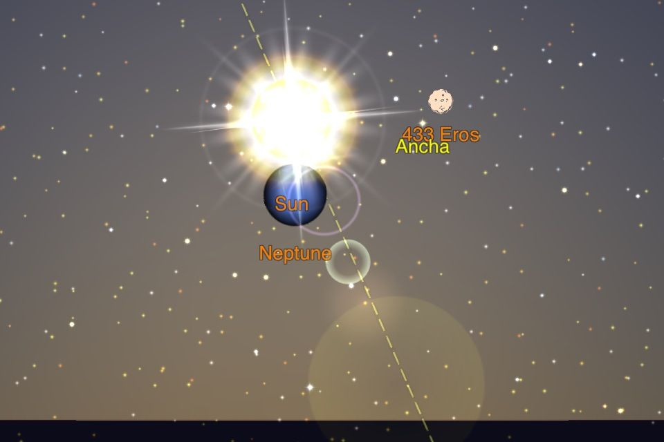 Sun sets next as it has eclipsed Neptune 4:44 PM