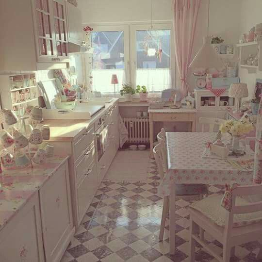 Love This Pastel Kitchen Dining Area