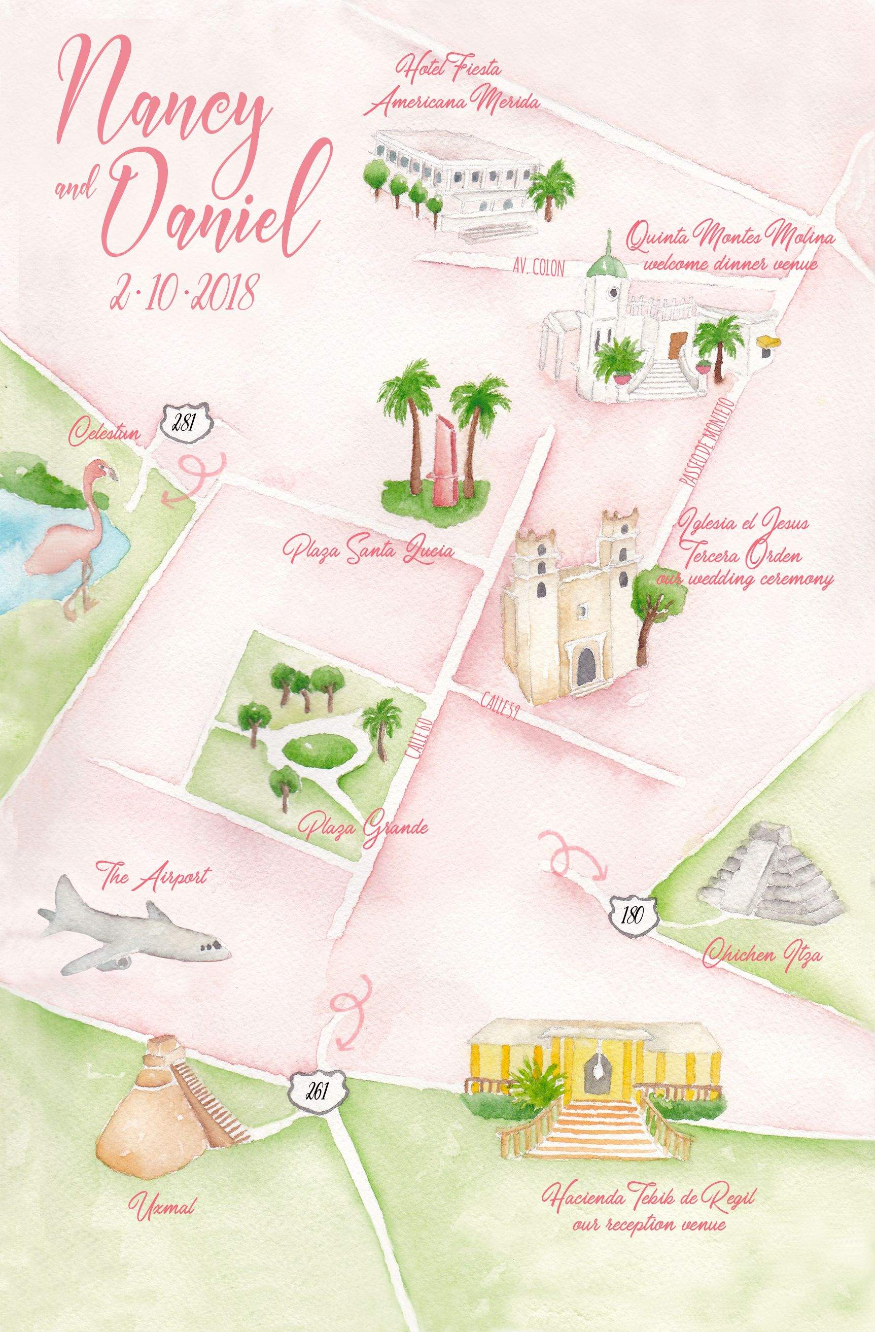 Wedding Maps Watercolor Wedding Wedding Invitations Map Invitation