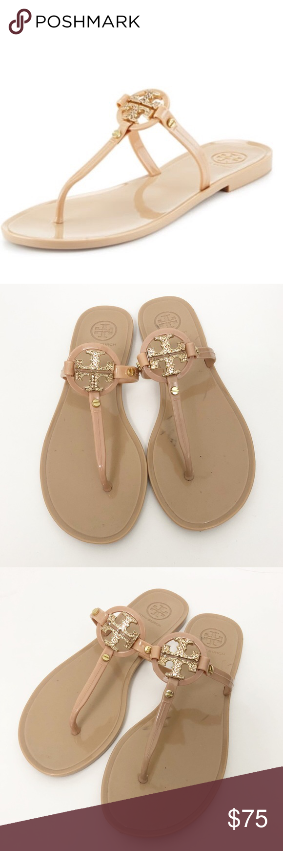 20c92c44ed8e5b Tory Burch Mini Miller Nude Jelly Thong Sandals Tory Burch Mini Miller Nude  Jelly Thong Sandals Size 6 Good condition