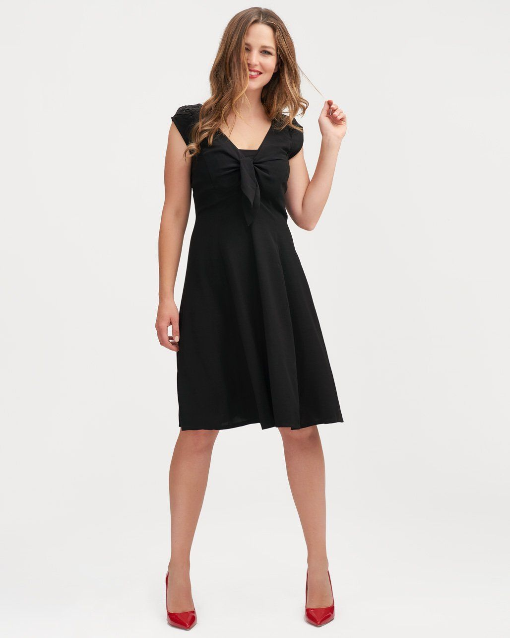 724f69b0ff235 Gorgeous black breastfeeding dress that's something a little special for  that meeting, party or wedding?Whichever way you wear it, this little black  number ...