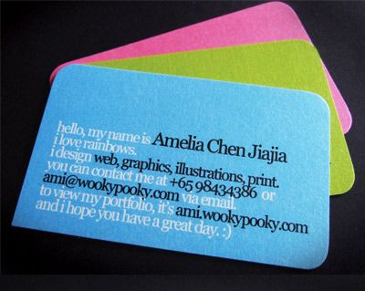 business card design by Amelia Chen