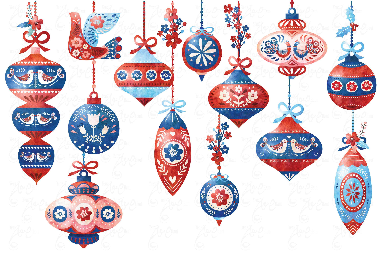 Watercolor Scandinavian Ornament Clipart Christmas Ornament Folk Christmas Ornament Scandinavian Watercolor Folk Art 20png File Cm013 In 2020 Christmas Art Folk Art Christmas Prints