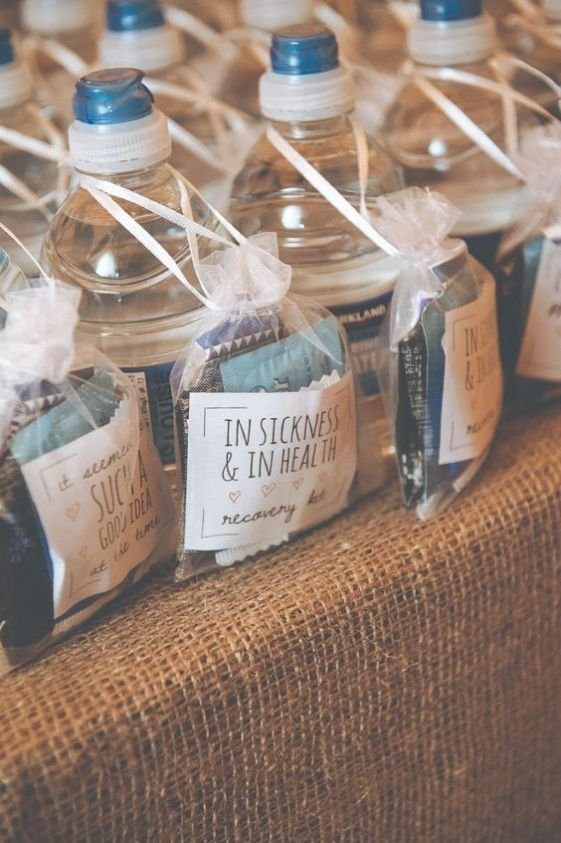 5 Wedding Favors Your Guests Will Actually Want Kayla S Five Things Affordable Wedding Favours Wedding Favours Hangover Kit Hangover Wedding Favors