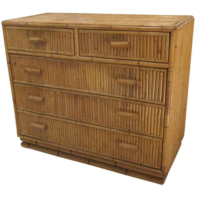 super popular ec7ea e1c09 Bamboo Chest of Drawers, France, 1950s   Dream House in 2019 ...