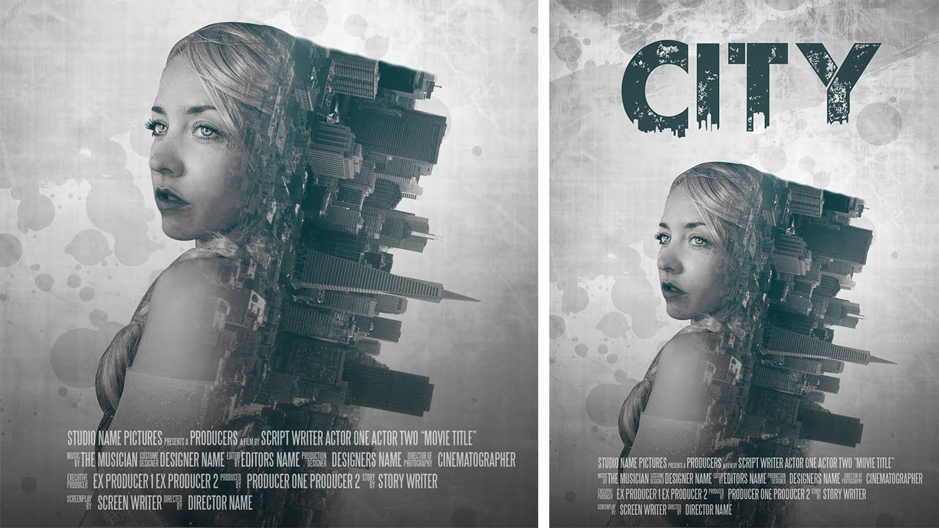Poster design using photoshop - Photoshop Manipulation Film Poster Design Double Exposure Effect Tut