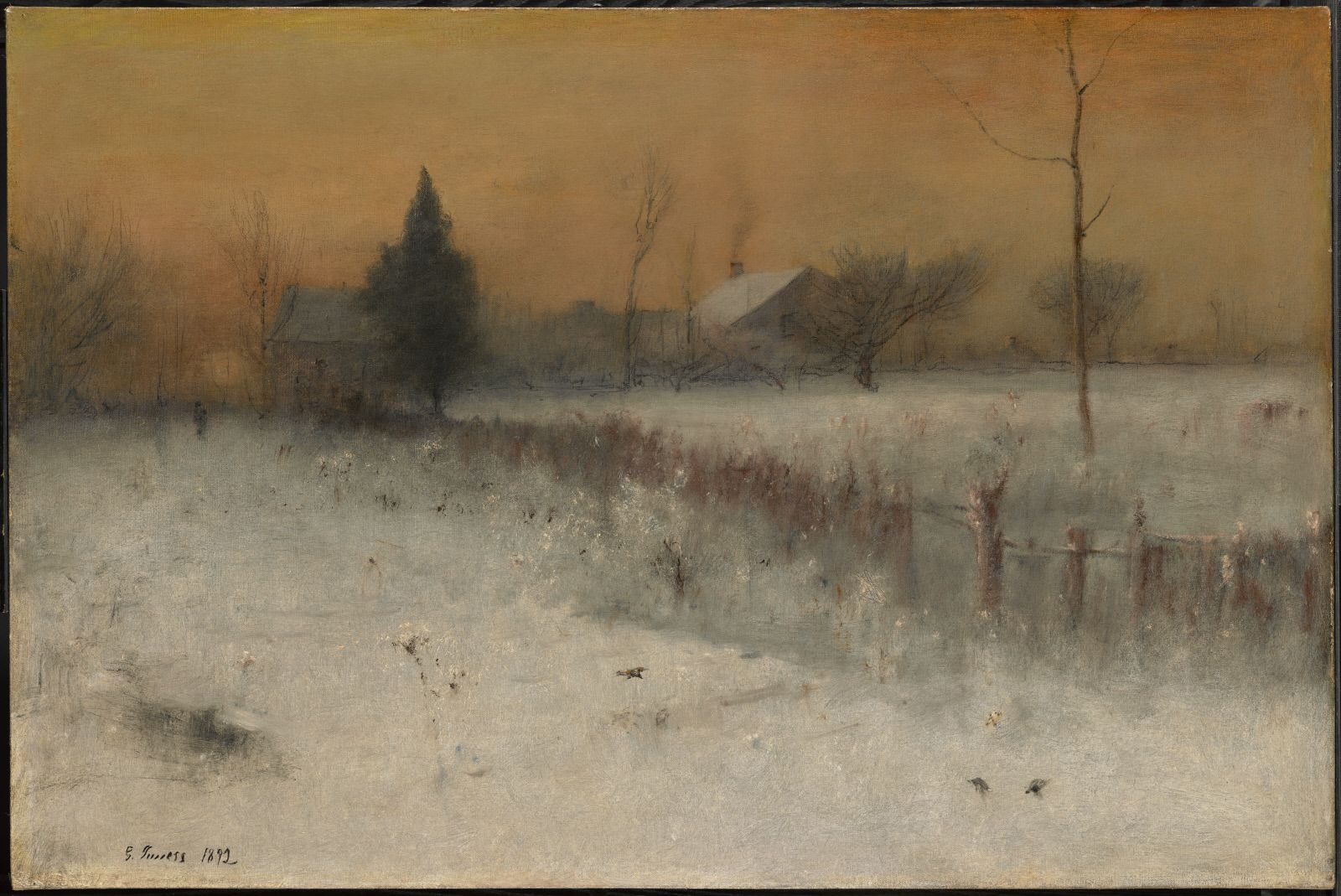 Home At Montclair 1892 George Inness Landscape Paintings Winter Landscape Painting Painting