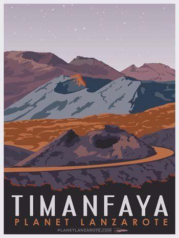 Postcard Ilustration Timanfaya