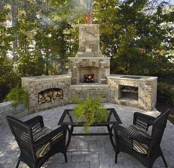 My Dream Home Will Have One Of These Outdoor Fireplaces A