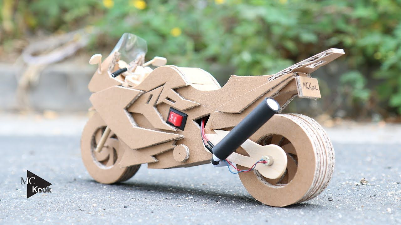 How to make toy motocyclebmw f800gt amazing cardboard