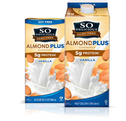 Yesss I need to look out for this. I prefer almond milk way more than soy milk but almond milk is usually very low on protein.