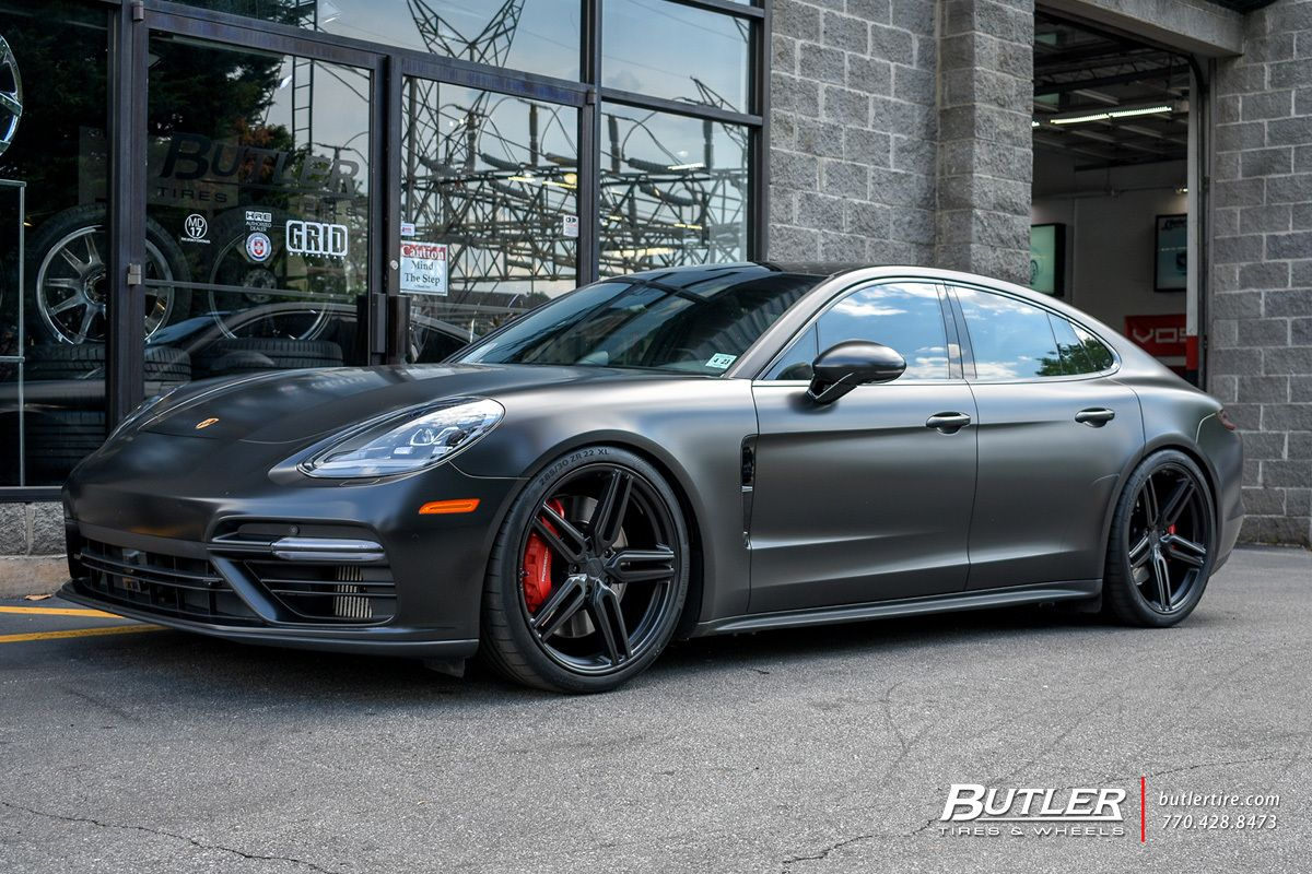 Porsche Panamera With 22in Vossen Hf 1 Wheels Exclusively From Butler Tires And Wheels In Atlanta Ga Porsche Panamera Porsche Vossen